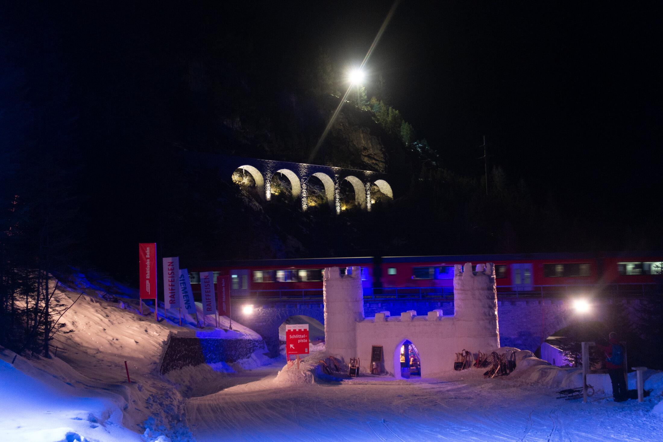 Nachts am Albula