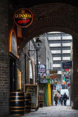 Blick nach Temple Bar
