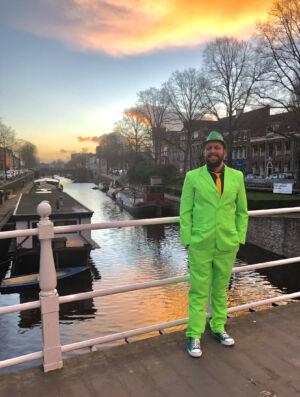 Grüner gehts nicht. Ich vor 2 Jahren zum St. Patricks Day in Groningen