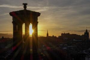 Sonnenuntergang in Edinburgh